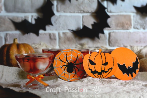 halloween felt coasters