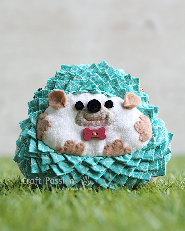 zipper purse hedgehog