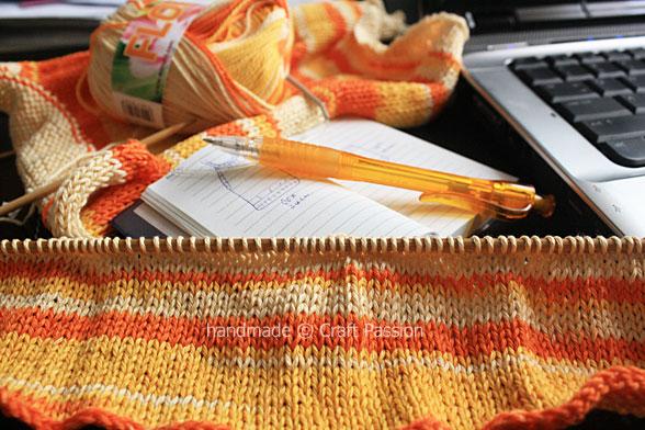 knitting pattern writing