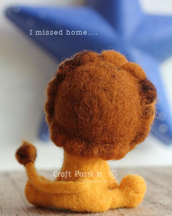 home sick lion