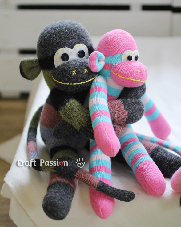 Sock Monkey Free Sewing Pattern Craft Passion
