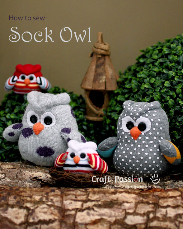 sew sock owl
