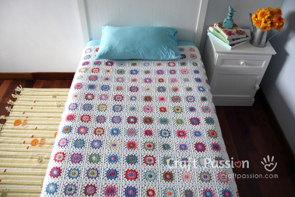sunburst granny blanket pattern