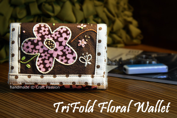 Trifold Wallet Free Sewing Pattern & Tutorial Craft