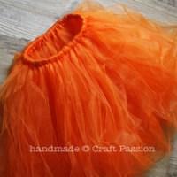 No Sew Pumpkin Tutu - DIY Halloween Costume   Craft Passion