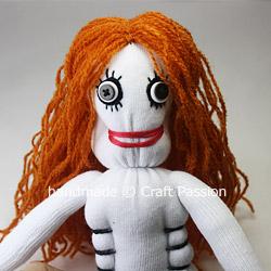 Sew Sock Skeleton Doll