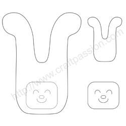 pdf pattern of bunny sachet