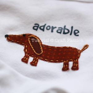 Onesie Applique Puppy