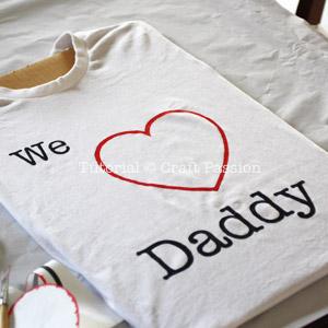 we i love daddy stencil