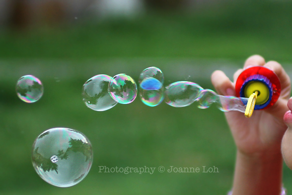 bubble blowing