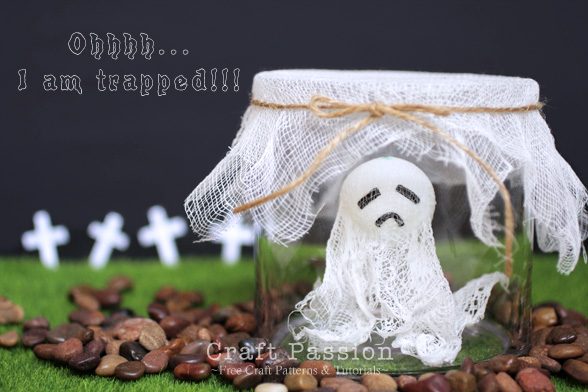 Halloween decorations trapped ghost