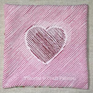 heart chenille valentine pillow