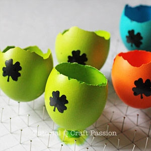 Dye easter egg with stencil sticker
