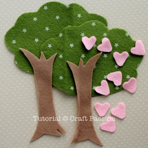 Materiais de árvore de feltro