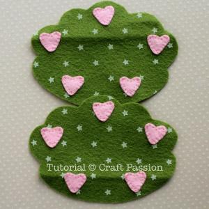 Costurar corações à árvore