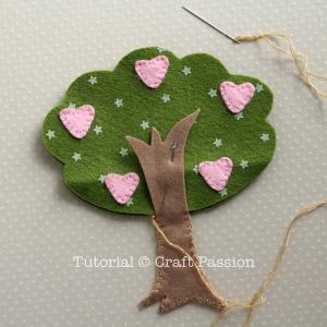 Costurar a segunda árvore