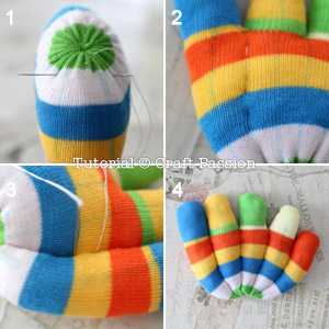 color tail from sock