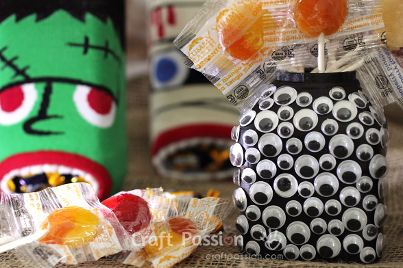 googly eyes monster candy holder