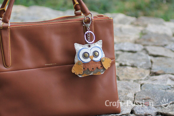 leather owl large