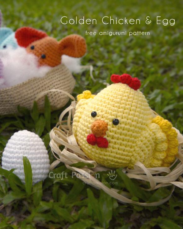 Golden Chicken Amigurumi Free Crochet Pattern Craft Passion