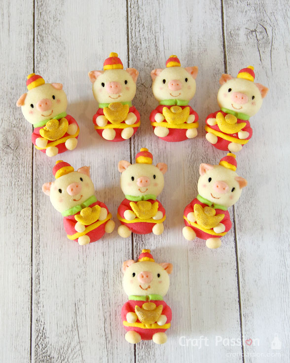 pig year butter cookie