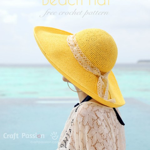 Beach Hat Crochet Pattern