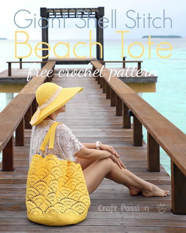 I need to crochet this beach bag. Absolutely pretty & free Crochet Pattern