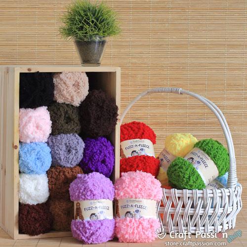 Fuzz A Fleece Yarn 50g Ball 23 Colors