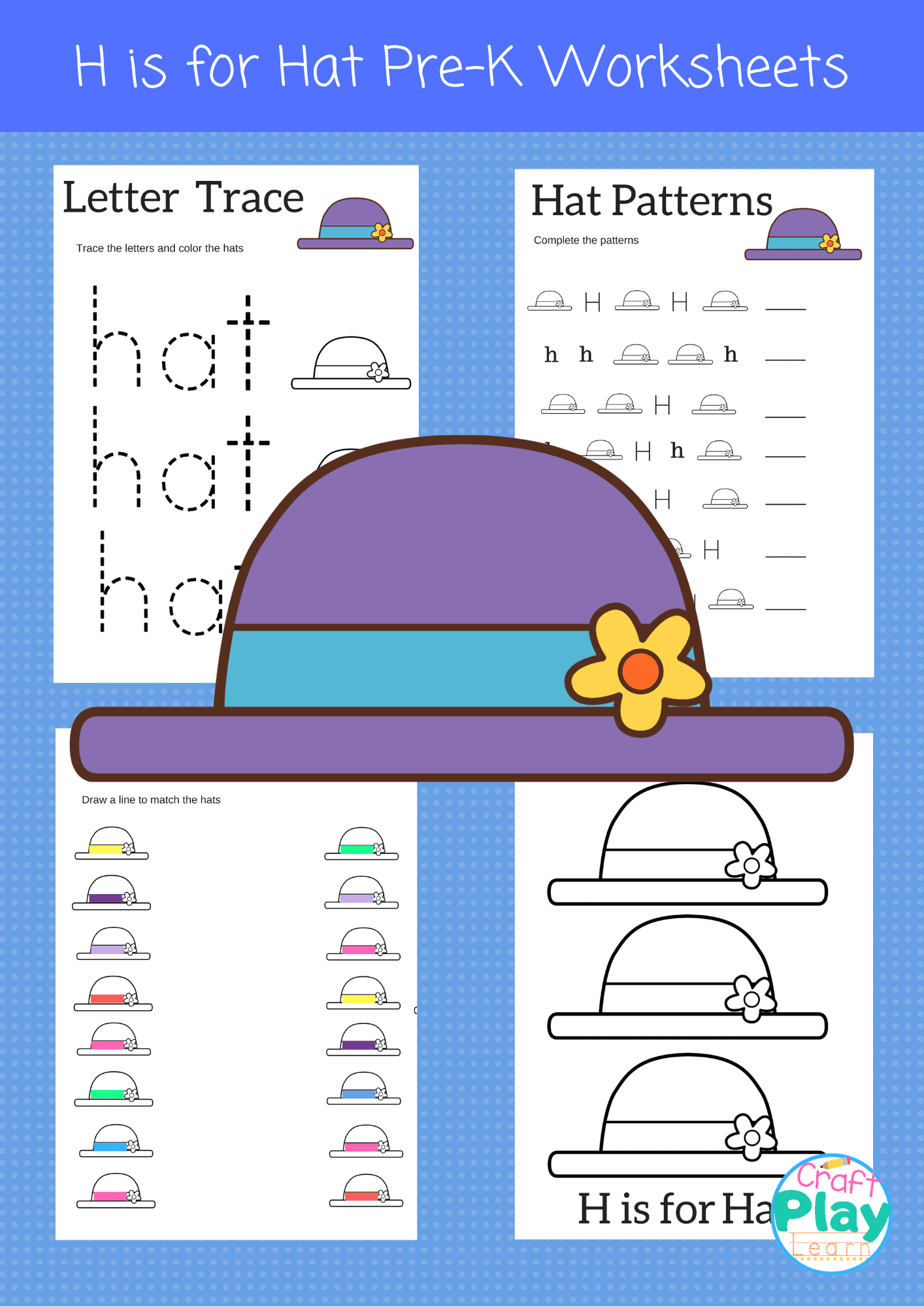 Letter H Worksheets For Pre K Craft Play Learn By The Inspiration Edit