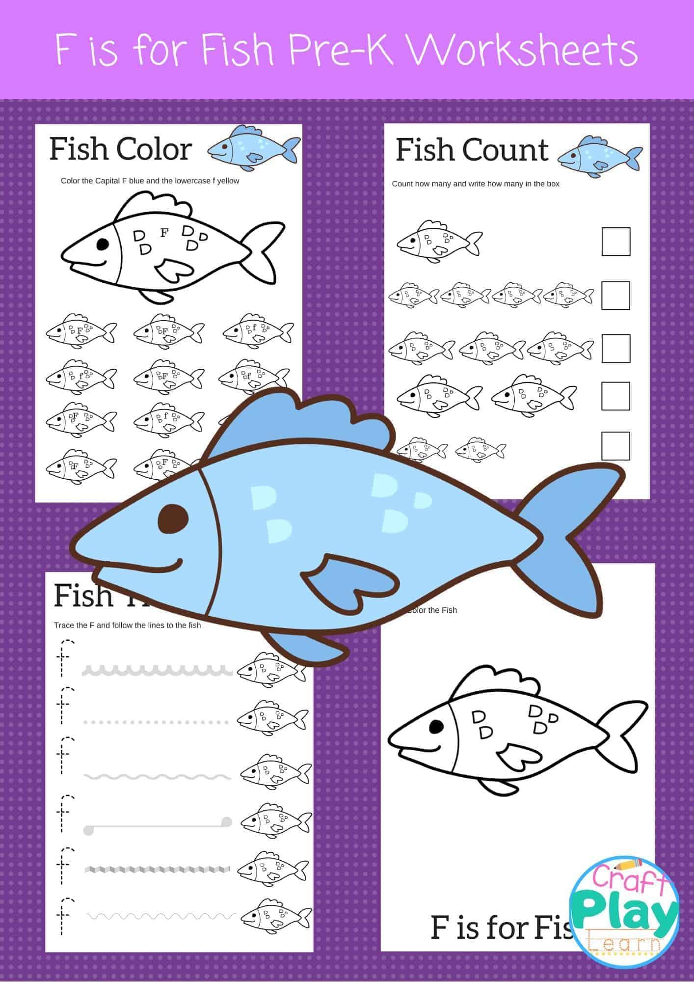 Letter F Worksheets For Preschool