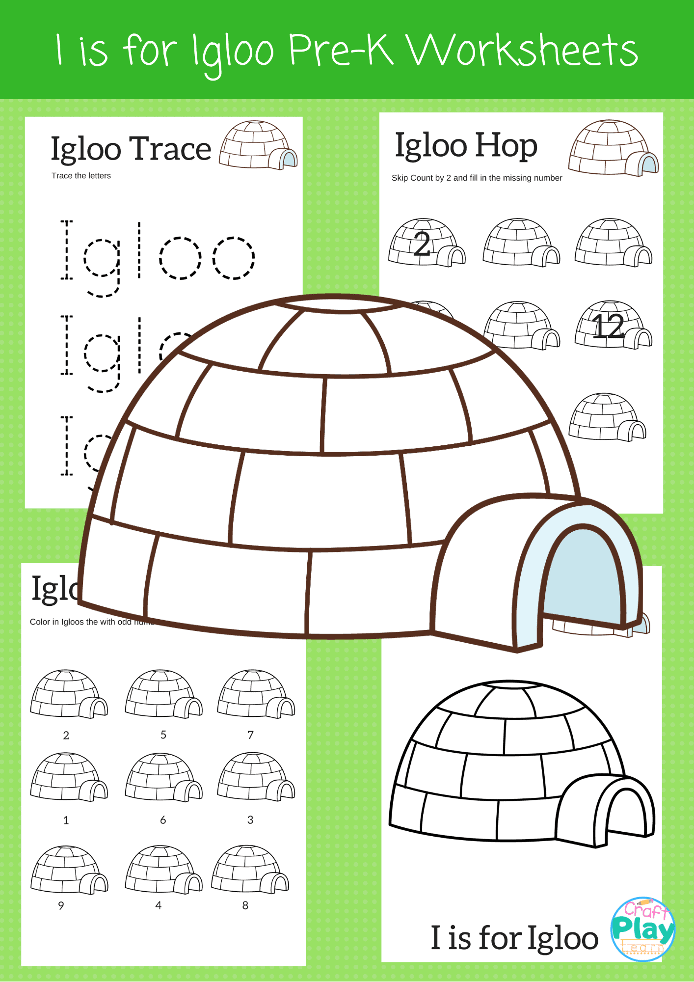 Letter I Worksheets For Preschool Kids