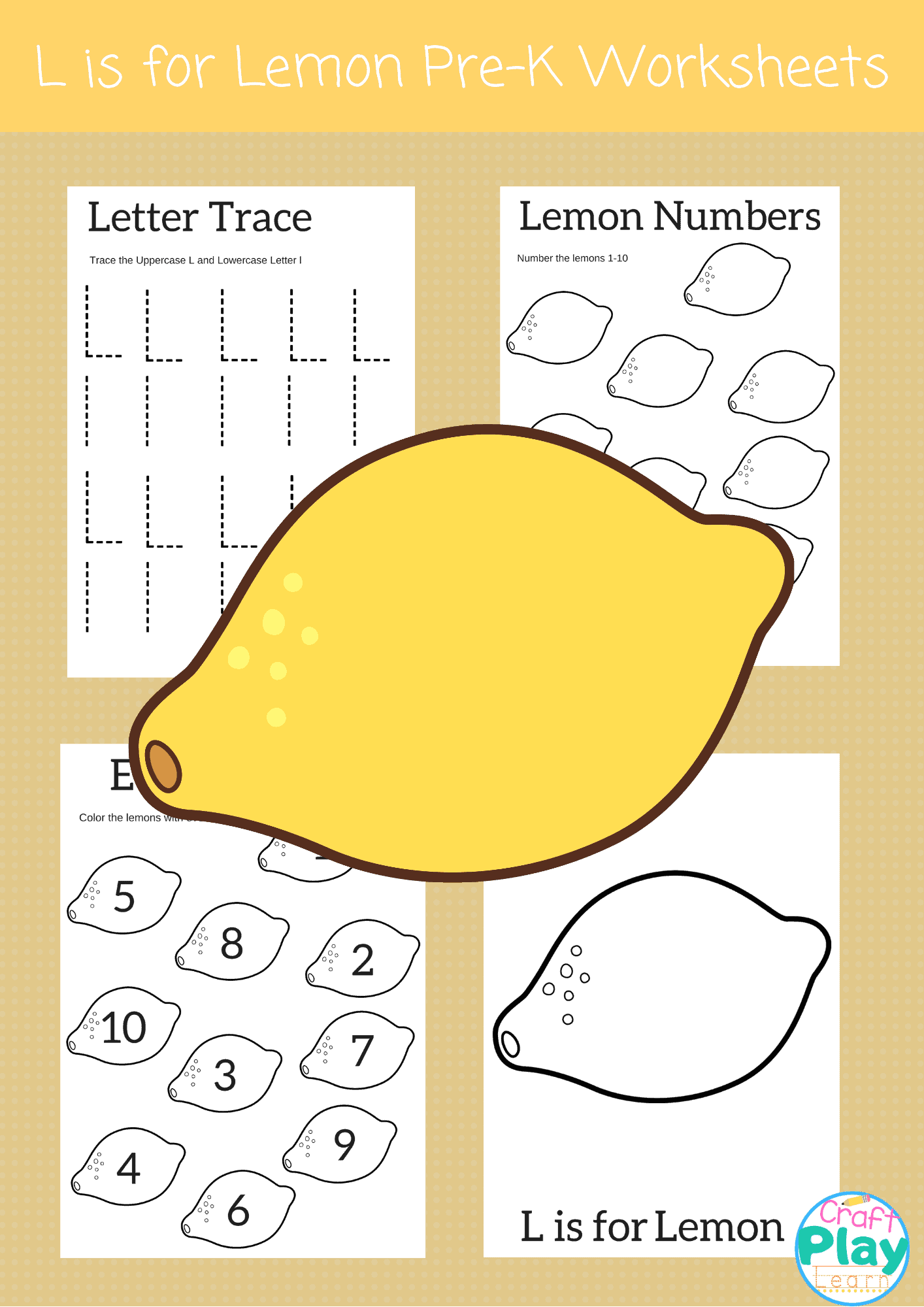 Letter L Worksheets For Pre School Kids