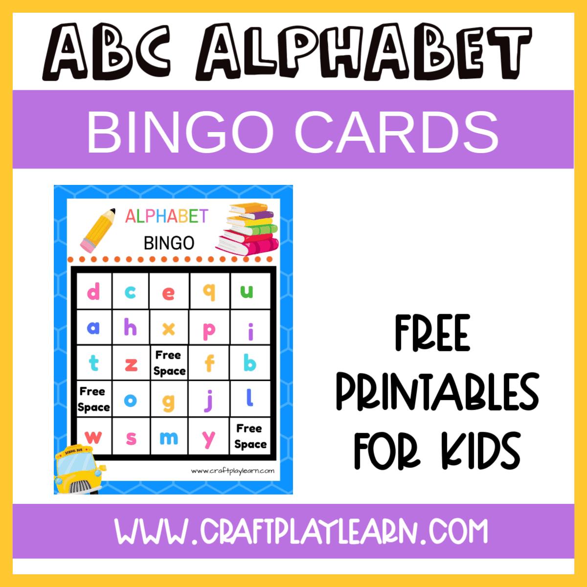 Alphabet Bingo Printable For Kids