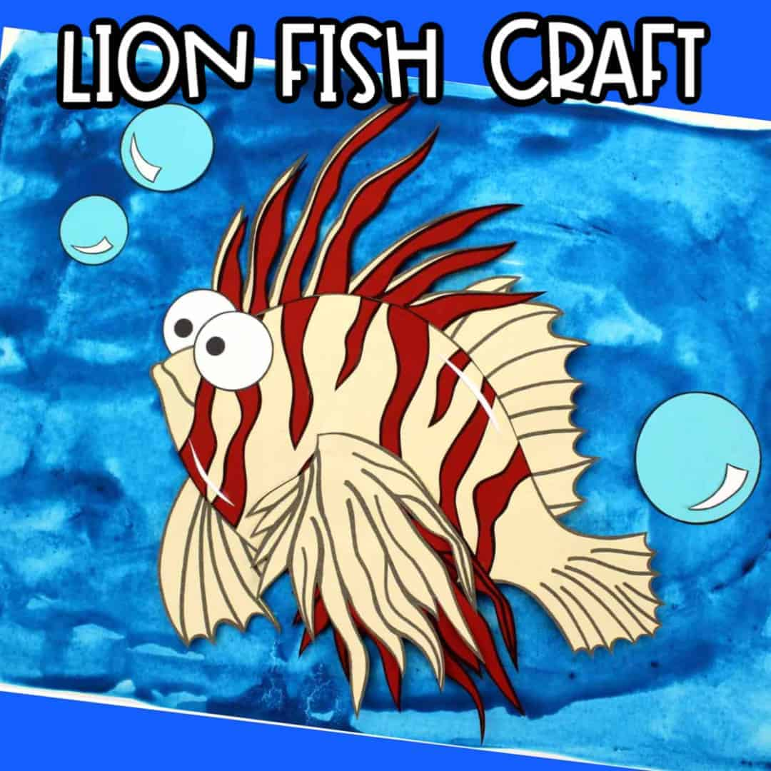 Easy Lion Fish Craft Activity For Kids