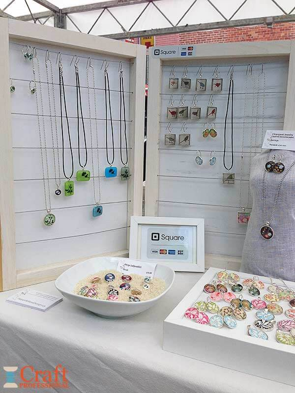 Craft Booth Design Using Portable Tables