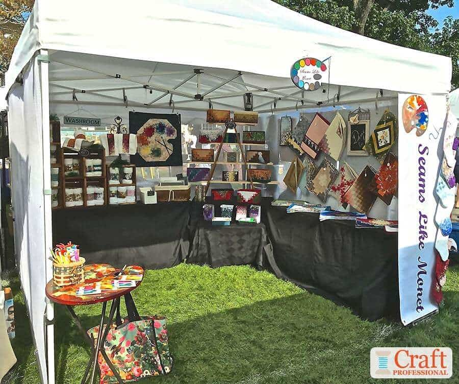 Sewing Booth Ideas For Craft Shows With 3 Fantastic Photos