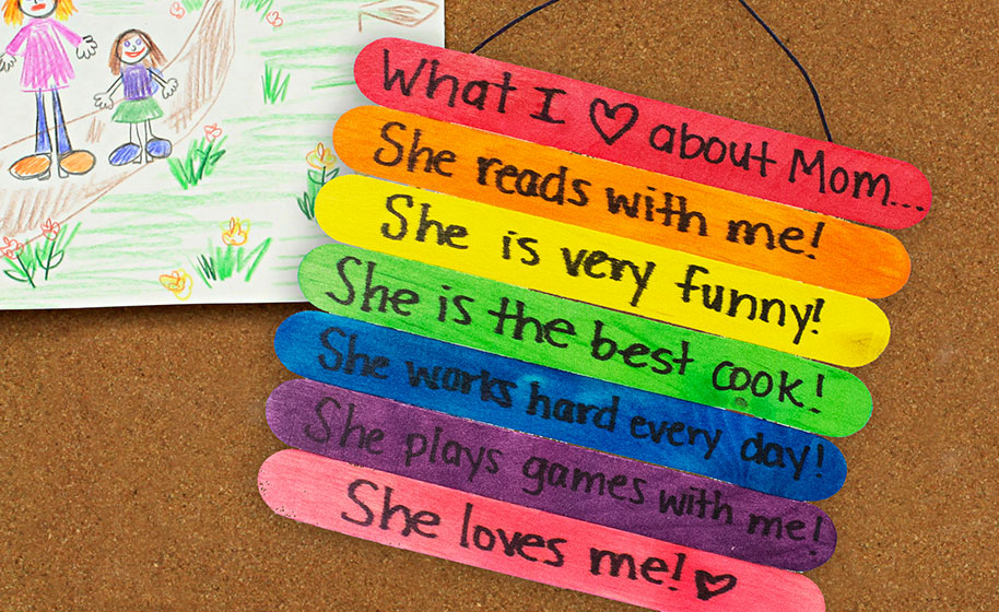 Craft Stick Mother S Day Sign Craft Project Ideas