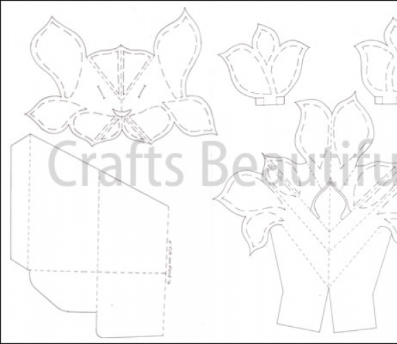 Pop-up Vase Card Template - Free Card Making Templates | | Digital Craft