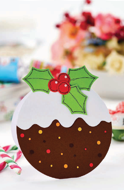 Easy Christmas Pudding Card Free Craft Project