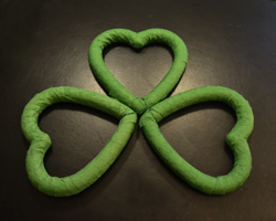 three heart shamrock