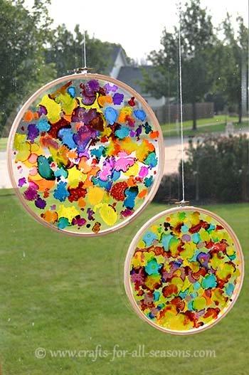 Create A Colorful Sun Catcher Craft