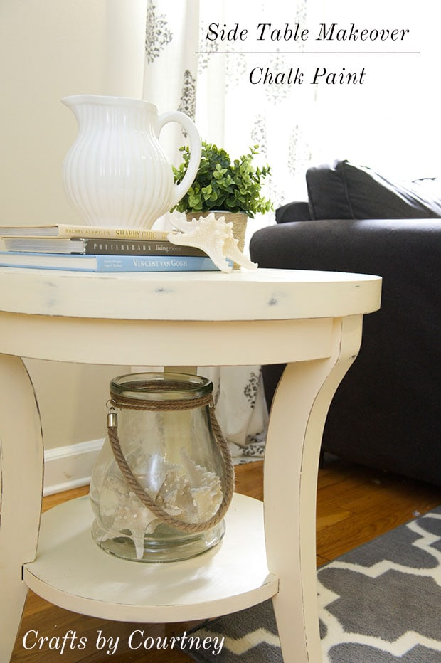 Easy Side Table Makeover Fun with Chalk Paint
