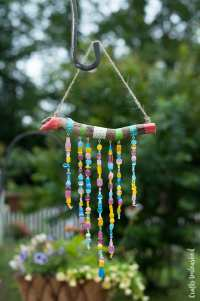 Homemade Wind Chimes. Finest Beads Hanging From Diy Wind