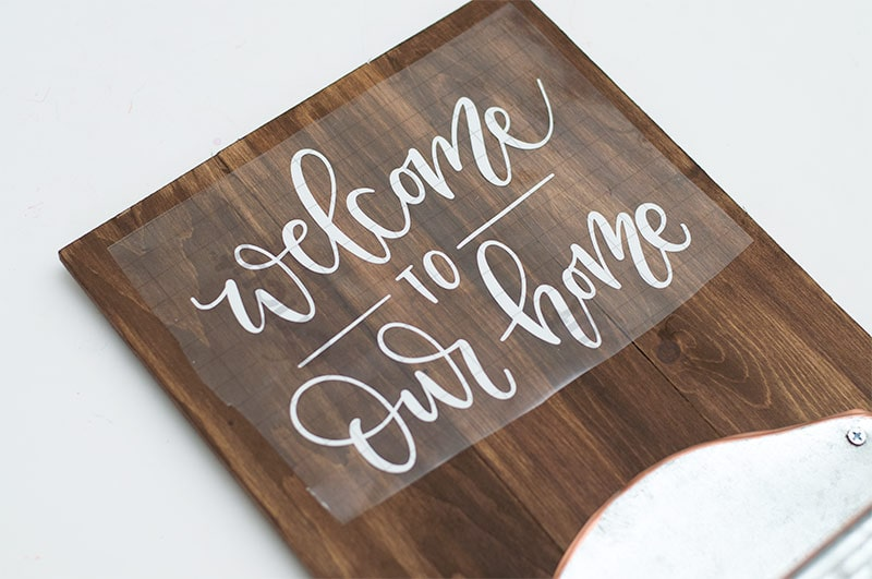 front door welcome sign