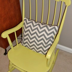 Yellow Rocking Chair Fabric Tub Painted