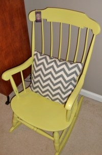 Painted Yellow Rocking Chair