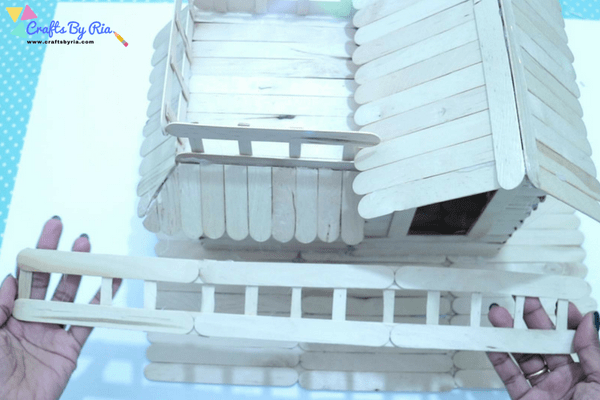 popsicle stick house tutorial-make a fence