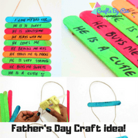 fathers day craft idea with popsicle sticks