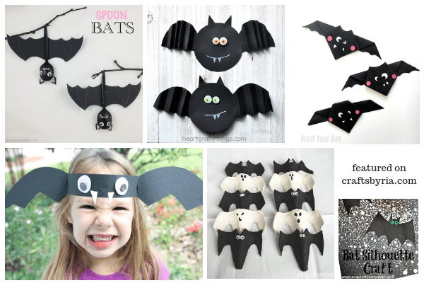 Halloween bats-wasy Halloween crafts for kids
