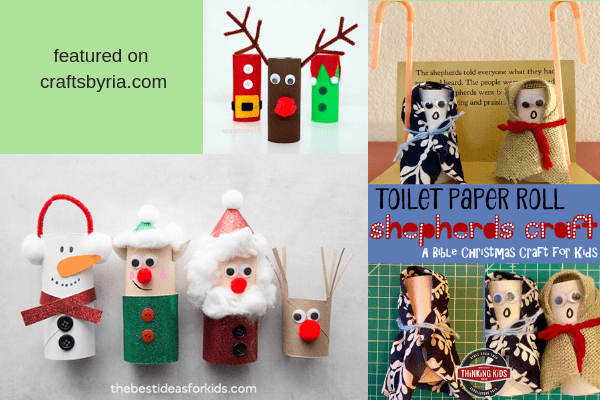 toilet roll crafts-easy christmas crafts for kids